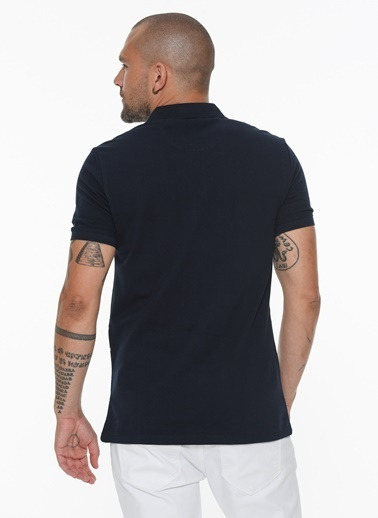 Beymen Business 4B4820200022 Slim Fit Tişört Baskılı Lacivert